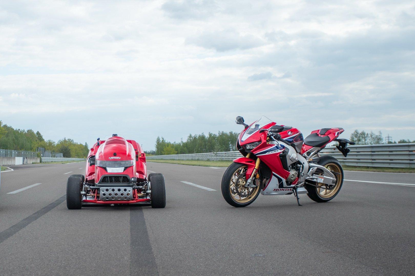 Газонокосилка Honda Mean Mower V2 ставит рекорды скорости_2
