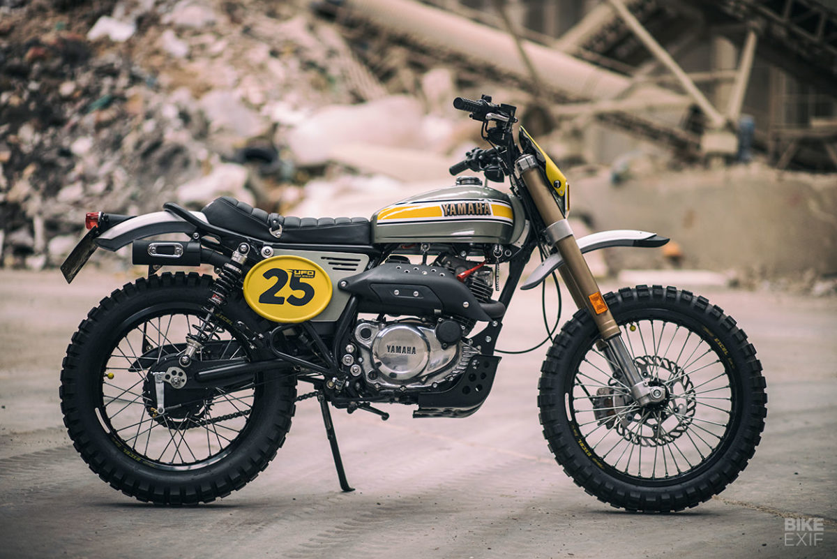 Скрэмблер Yamaha SR250 от UFO Garage