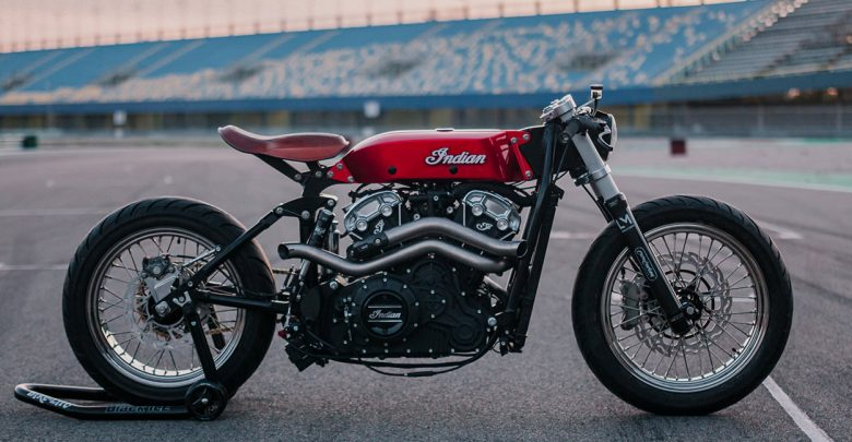 Indian Scout Bobber HASTY FLAMING BUFFALO от Luuc Muis