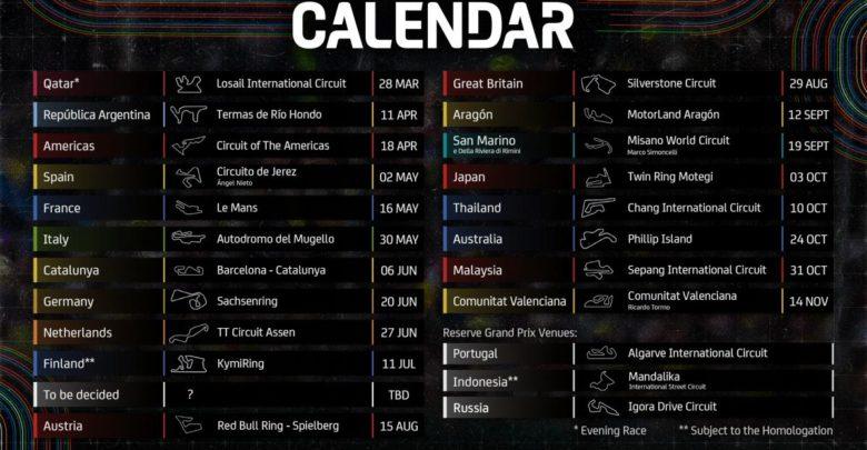Календарь MotoGP 2021