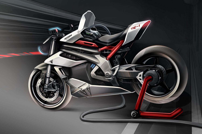 Элекроцикл Triumph TE-01 на подходе!