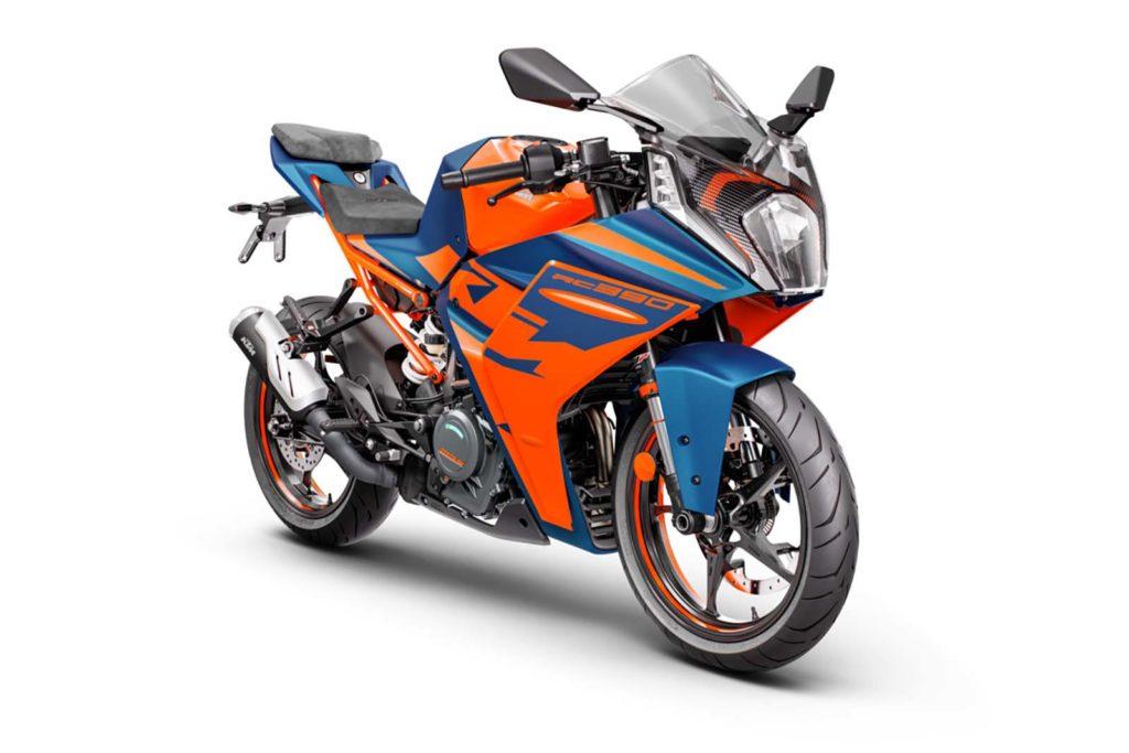 Представлен спортбайк KTM RC390 2022